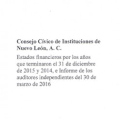 Estados Financieros Consejo C�vico 2016